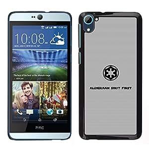 iKiki Tech / Estuche rígido - Alderaan tiró primero - HTC Desire D826