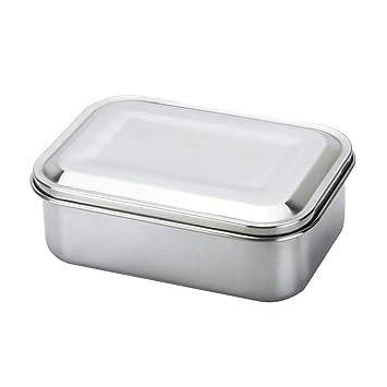 Caja de Almuerzo Portátil Contenedor de Comida de Acero Inoxidable Respetuoso del Medio Ambiente para el