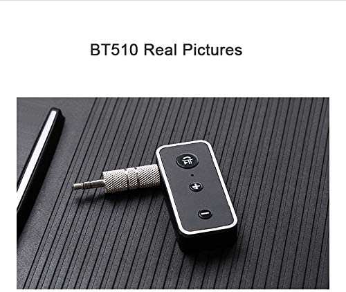 Bluetooth Receiver//Car Kit Black Portable Wireless Audio Adapter 3.5mm Aux Stereo Output Bluetooth 5.0, A2DP, Built-in Microphone for Home Audio Music Streaming Sound System