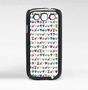 Cute Pink Girly Emoji Baclground Hard Snap on Phone Case (Galaxy s3 III)
