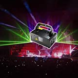 Sumger Professional DMX512 stage light Red/Green/Blue Laser Scanner DJ Disco Beam Stage Lighting Effect Laser Projector illumination Show Light with Remote for Festival Bar Club Party Wedding