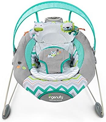 29fe068b0 Amazon.com   Ingenuity SmartBounce Automatic Ridgedale Bouncer   Baby