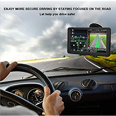 GPS Navigation for Car,Latest 2020 Map ,7 inch Touch Screen Real Voice Spoken Turn-by-Turn Direction Reminding Navigation System for Cars, Vehicle GPS Satellite Navigator with Free Lifetime Map Update: GPS & Navigation