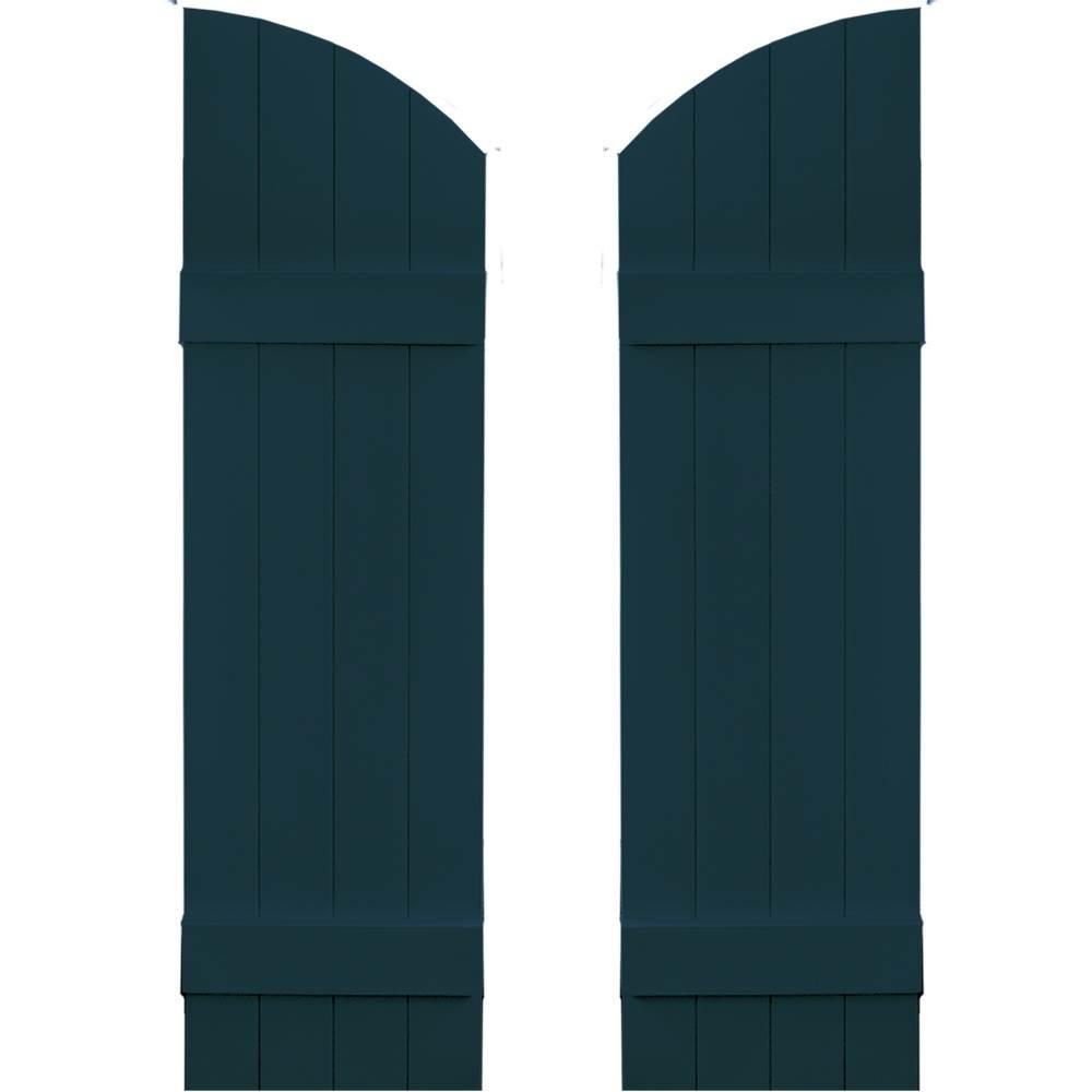 Archtop Board-N-Batten 4 Boards in Midnight Blue - Set of 2 (14 in. W x 1 in. D x 61 in. H (10.95 lbs.))