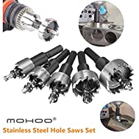 Deals on 5-Pcs Mohoo 16-30MM HSS Drill Bit Hole Saws Set Stainless