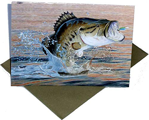 Fishing Birthday Party Invitations and Envelopes, 8-Pack, Gone Fishin' Collection by -