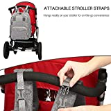 Diaper Bag Backpack, iniuniu Large Unisex Baby Bags Multifunction Travel Backpack for Mom and Dad with Changing Pad and Stroller Straps, Gray