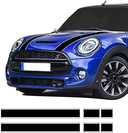 Auto Styling Aufkleber Für Motorhaube Motorhaube Motorhaube Vinyl Aufkleber Für Mini Cooper R56 R57 F55 F56 Zubehör Schwarz Weiß Küche Haushalt