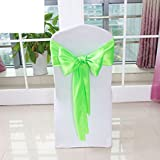 Wedding chair back cover/decorative streamers/bow ribbon-D