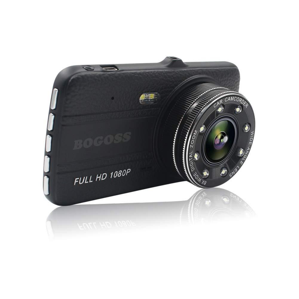 C/ámara de coche 1080P Full HD delantera y trasera 170/° gran /ángulo estacionamiento con visi/ón nocturna detecci/ón de movimiento G-Sensor