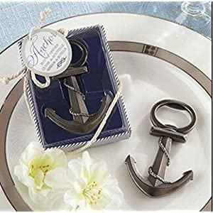 anchor nautical wedding party favor bottle openers