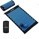Lixada Acupressure Mat and Pillow Set with 2pcs Spiky Massage Balls for Back/Neck/Feet Pain Relief and Muscle Relaxation…