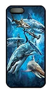 Shark Collage Custom PC Hard For HTC One M9 Phone Case Cover Black