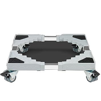 Muebles telescópicos de la base móvil de múltiples funciones Rodillo de la plataforma ajustable con 4 rodillos Ruedas ...
