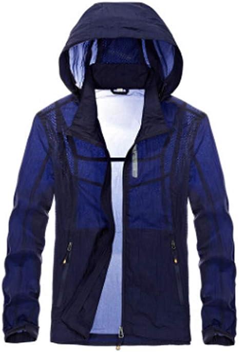 XXT Casual Camisa Ligera Protección Solar Protección Solar Ropa Primavera Y Verano Nueva Transpirable Piel Prendas for Hombre y Chaqueta al Aire Libre cómodos Cardigan Protector Solar Masculino: Amazon.es: Deportes y aire