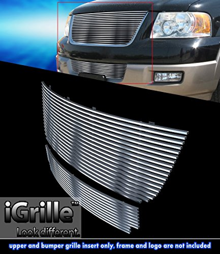 Stainless Steel eGrille Billet Grille Grill Combo For 03-06 Ford Expedition 05 Ford Expedition Billet