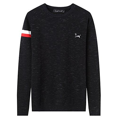 Jdfosvm männer aus Pullover, Winter - und Winter - Pullover, aus Gewirken Pullover, Jugend - Pulli,schwarz,XL