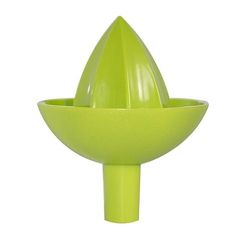 Exprimidor manual de plástico para frutas y verduras. Exprimidor de presión