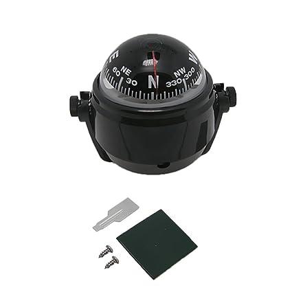 Adjustable Navigation Voyager Bracket Mount Compass For Boat Car Color : Black