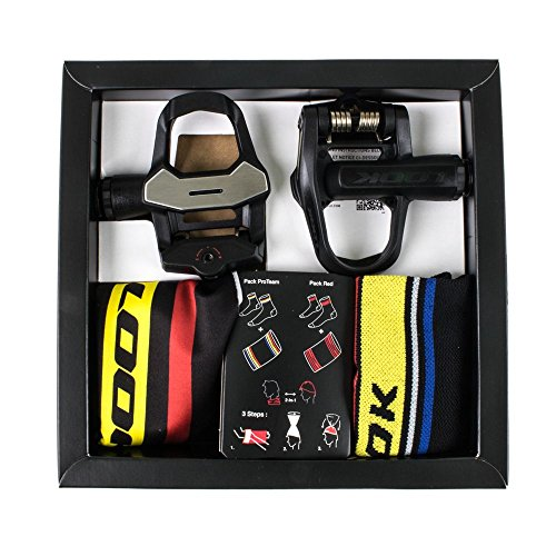 Look Keo 2 Max 2017 Special Set Includes pedals socks and a convertible hat/neck warmer Black/ProTeam (Max Pedals)