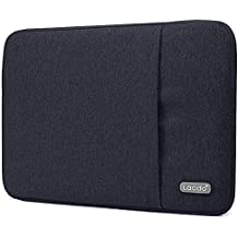 "Lacdo 13 Inch Waterproof Fabric Laptop Sleeve Case for Apple Macbook Air 13"" / MacBook Pro 13.3-Inch Retina 2012-2015 / 12.9 ipad Pro, HP Asus Dell Acer Chromebook Ultrabook Notebook Tablet Bag, Black"