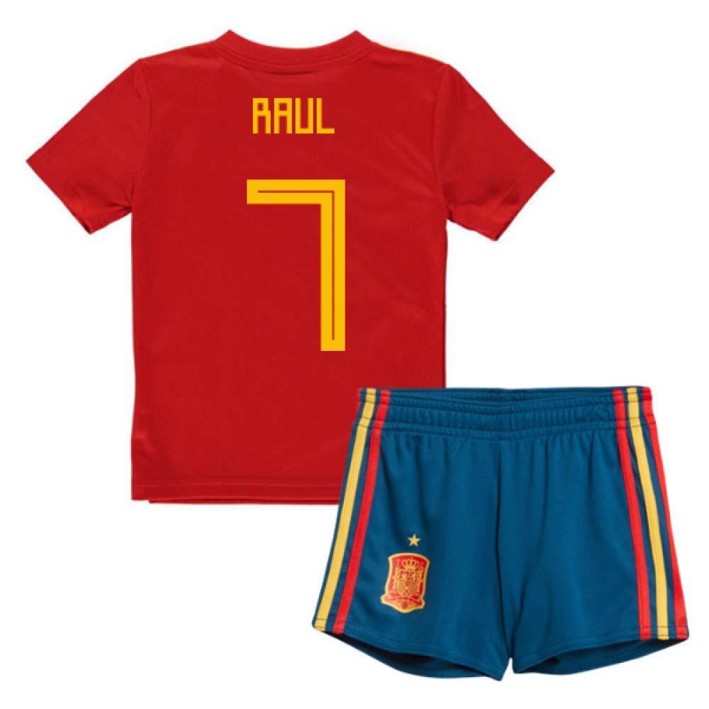 UKSoccershop 2018-19 Spain Home Mini Kit (Raul 7)