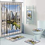 Philip-home 5 Piece Banded Shower Curtain Set Sao Paulo Brazil Latin America Decorate The Bath