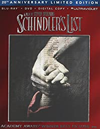 Schindler\'s List (Blu-ray + DVD + DIGITAL HD with UltraViolet)