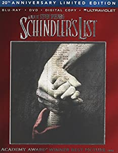 Cover Image for 'Schindler's List 20th Anniversary Limited Edition (Blu-ray + DVD + Digital Copy + UltraViolet)'
