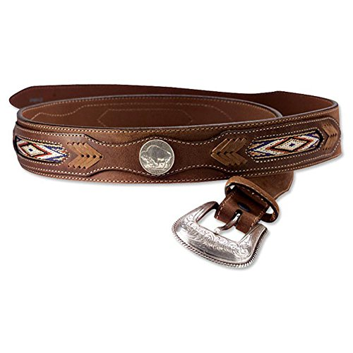 Orvis Buffalo Nickel Belt, Brown, 38