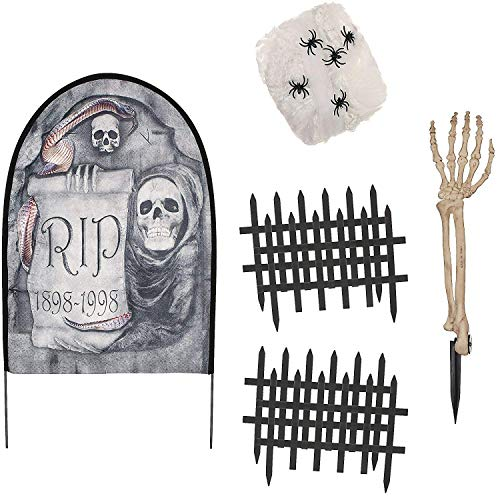 Seasons Fabric Tombstone Cemetery Kit Toy, Multicolor