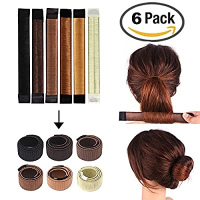Amazon.com : Hair Bun Maker Bun Shapers Donut Hair Styling Making ...