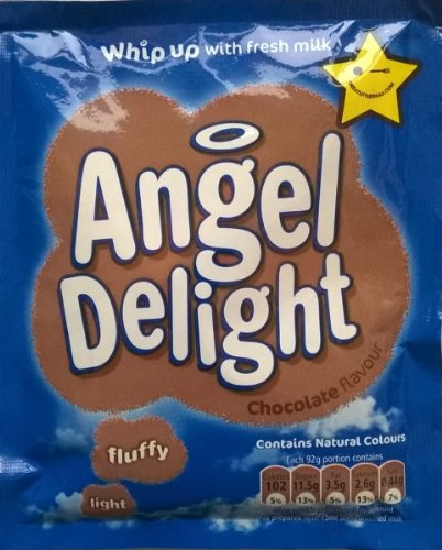 Birds Angel Delight Chocolate Flavour 6 x 59gm sachet