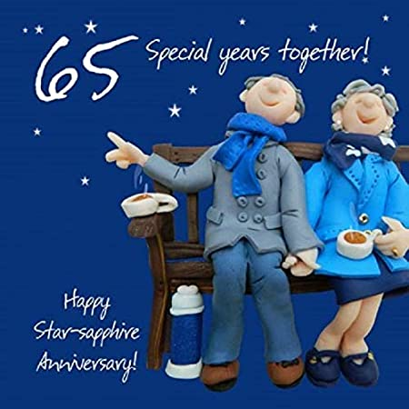 Sapphire 45th//65th Wedding Anniversary Card Husband//Wife//Mum /& Dad Pertsonalised
