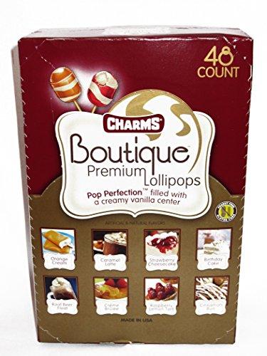 Charms Boutique Premium Lollipops, 48 Count (Pack of 48)