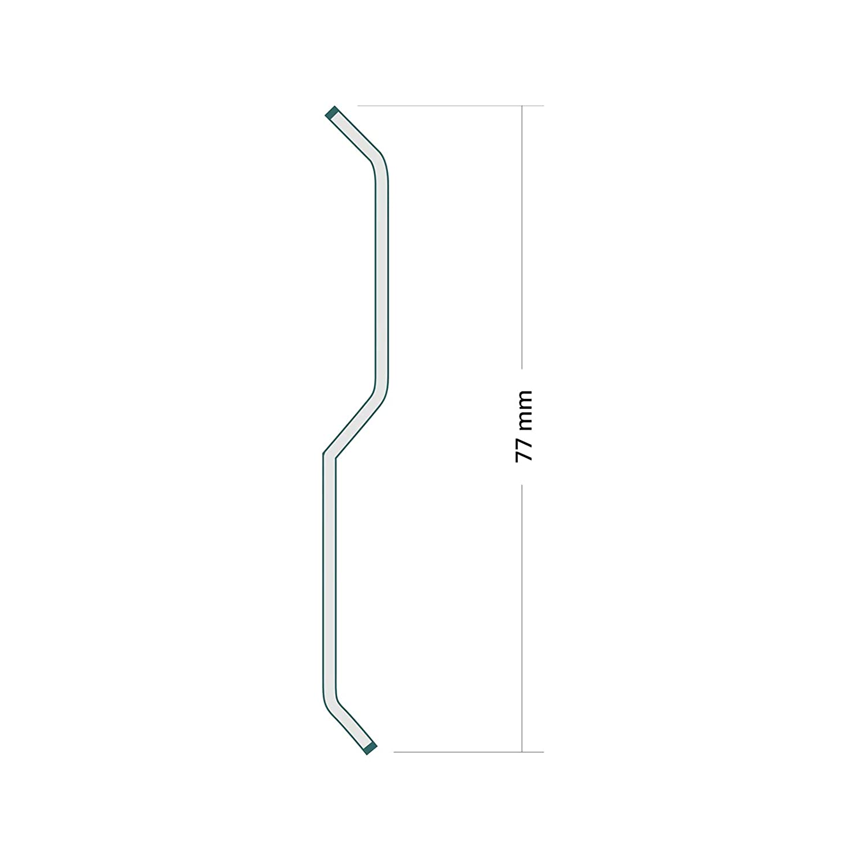 Aluminiumblech Wandanschlussleiste Wandanschlussschiene 2 Meter Farbe KASTANIE
