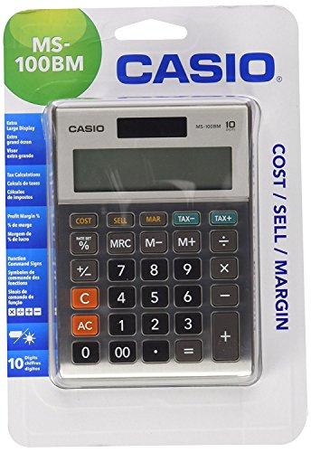 casio ms 100bm calculatrice gris toutes les fournitures de bureau. Black Bedroom Furniture Sets. Home Design Ideas