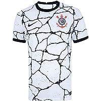 Camisa Corinthians 1 Casa 21/22 S/Nº Torcedor Masculina - Branca e Preto