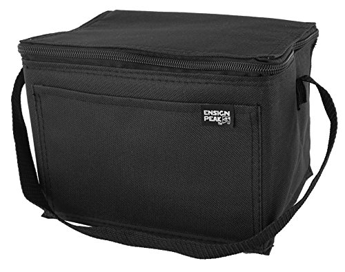 Ensign Peak Basic 6-can Insulated Cooler (Black)