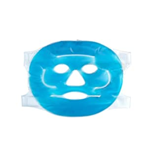 Tinsay Cooling Gel Beauty Mask Hot Cold Facial Ice Mask Face Gel Pad Freezable, Reusable- for Swollen Face, Puffy Eyes, Dark Circles, Headache, Migraine, Sinus Relief