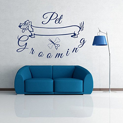 Wall Decals Domestic Animals Pet Grooming Pets Dog Dogs Vinyl Decal Sticker Home Decor Design Veterinary Shop Grooming Salon Murals ML92 (Animal Design Shop Stickers)