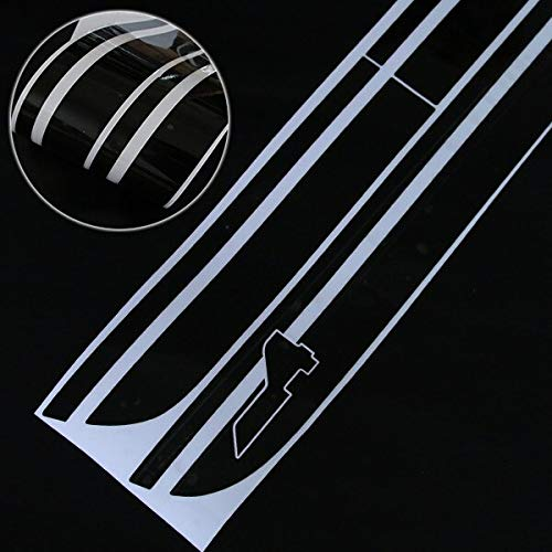 2pcs Car Styling Door Side Stripes Skirt Sill Decal Sticker For Cooper S Countryman F60 2017-Present All4 Sport Accessories - (Color Name: Black)
