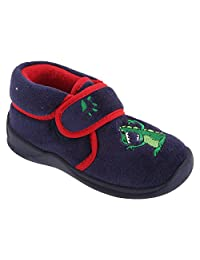 Sleepers Boys Dino Touch Fastening Dinosaur Bootee Slippers