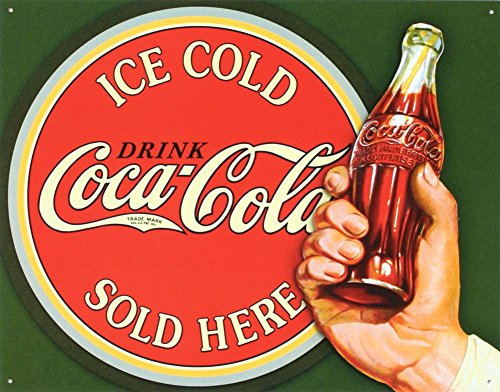 (COKE - Ice Cold Bullseye Tin Sign 16 x)