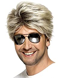 Smiffys Men's 80's Street Wig Short and Straight, Blonde, One Size