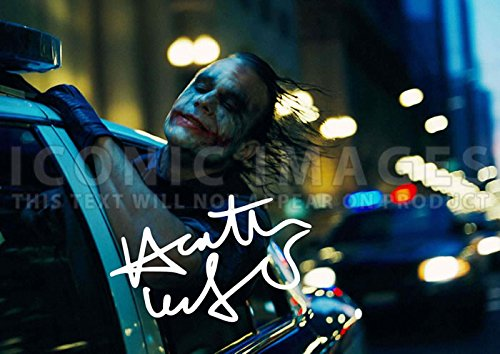 - Heath Ledger The Joker Batman Movie Print Dark Knight (11.7