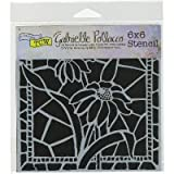 "Crafters Workshop Template 6""X6""-Stained Glass Daisies"