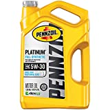 Pennzoil Platinum Full Synthetic Motor Oil  5W-30, 5 Quart - Pack of 1