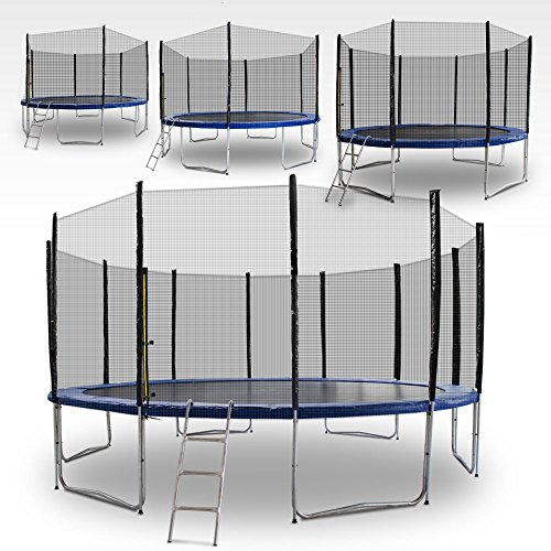 Gartentrampoline-Trampoline-Outdoor-Trampoline-Fitness-Trampoline-185cm-bis-490cm-inkl-Sicherheitsnetz-Leiter-und-Abdeckplane