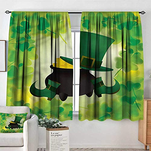 PriceTextile St. Patricks Day,Bocking Ight Rod Curtains Pot of Gold 52